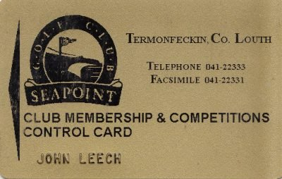 early Seapoint membership card